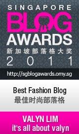 2011新加坡部落格大奖最佳时尚部落格