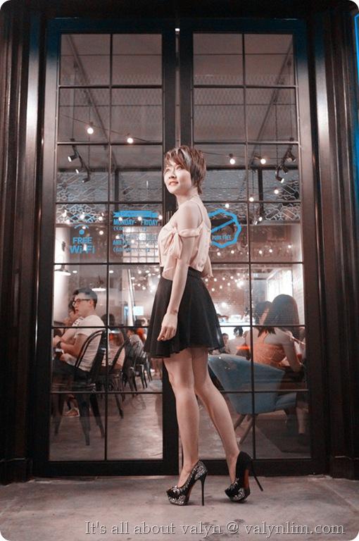 黑裸色露肩雪纺纱裙 (6)